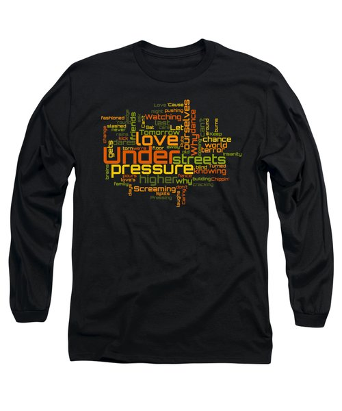 Queen And David Bowie - Under Pressure Lyrical Cloud Long Sleeve T-Shirt