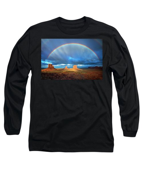 Rainbow Over The Mittens Afternoon Long Sleeve T-Shirt