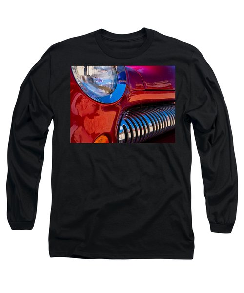 Red Car Chrome Grill Long Sleeve T-Shirt