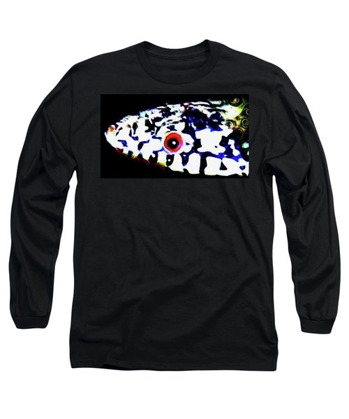 Long Sleeve T-Shirt featuring the photograph Red-eyed Snake by Judy Kennedy