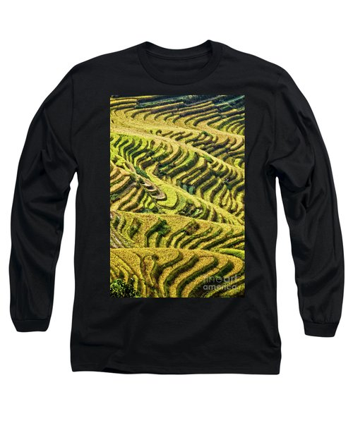 Rice Terraces In China Long Sleeve T-Shirt