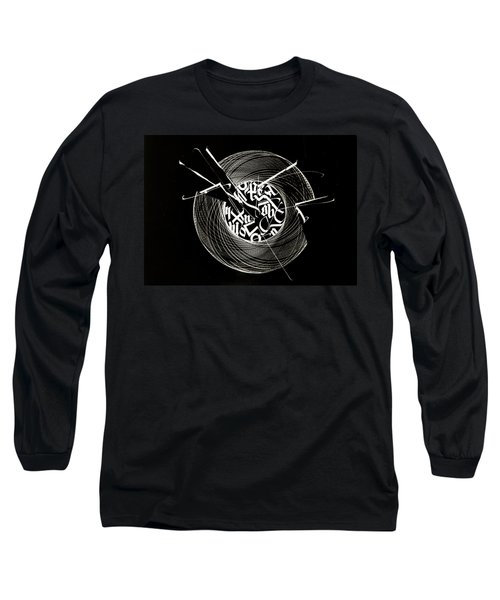 Ring Of Saturn. Calligraphic Abstract Long Sleeve T-Shirt