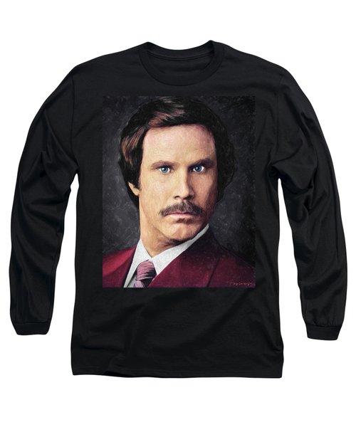 Ron Burgundy Long Sleeve T-Shirt