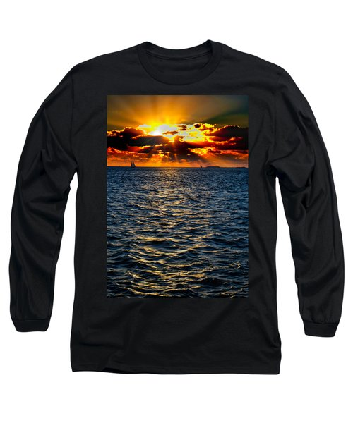 Sailboat Sunburst Long Sleeve T-Shirt