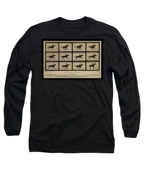 Sallie Gardner At A Gallop - Horse In Motion Long Sleeve T-Shirt