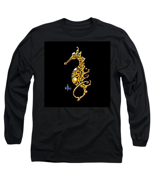 Seahorse Golden Long Sleeve T-Shirt