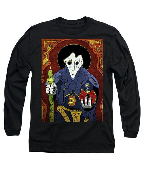 Long Sleeve T-Shirt featuring the painting Shadow Priest by Sotuland Art