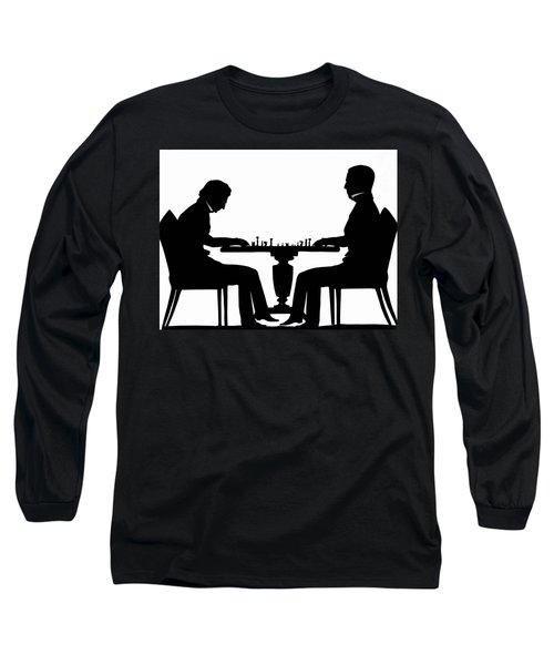Silhouette Of Chess Players, Around 1845 Long Sleeve T-Shirt