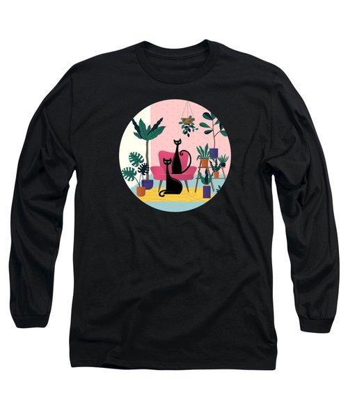 Sleek Black Cats Rule In This Urban Jungle Long Sleeve T-Shirt