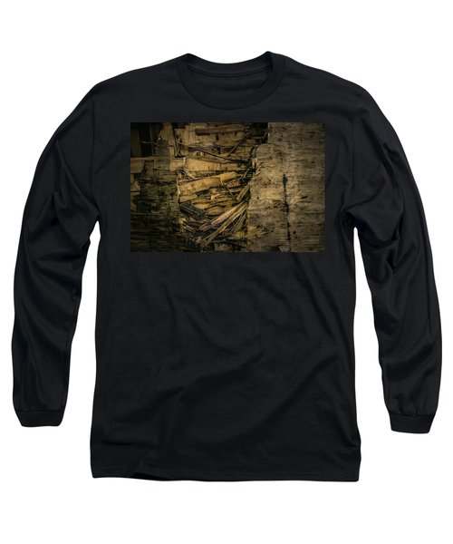 Smashed Wooden Wall Long Sleeve T-Shirt