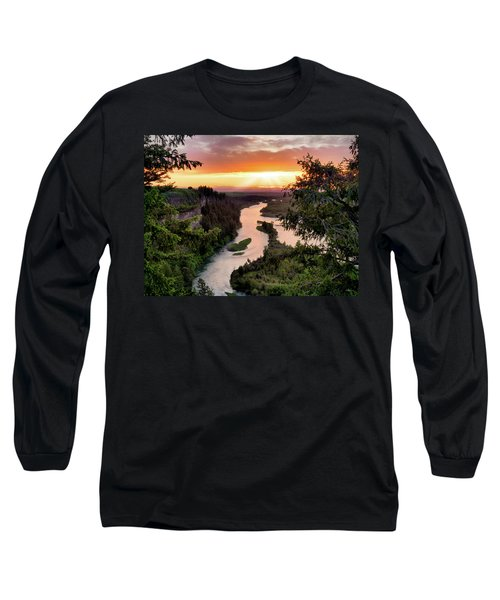 Snake River Sunset Long Sleeve T-Shirt