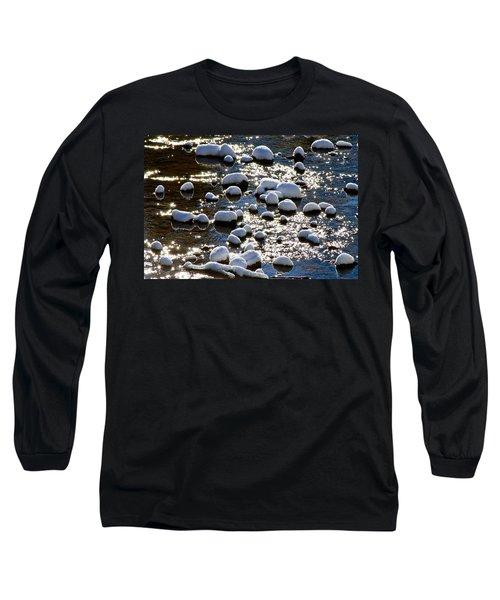 Snow Covered Rocks Long Sleeve T-Shirt