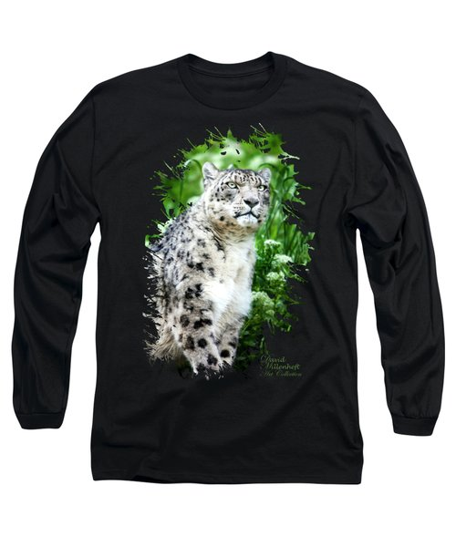 Snow Leopard, Leopard Art, Animal Decor, Nursery Decor, Game Room Decor,  Long Sleeve T-Shirt