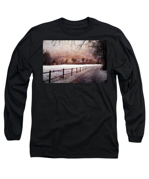 Long Sleeve T-Shirt featuring the photograph Sounds In The Paddock by Randi Grace Nilsberg