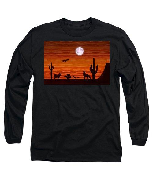 Southwest Desert Silhouette Long Sleeve T-Shirt