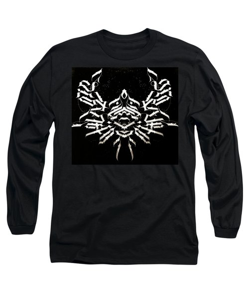 Space Crab. Calligraphic Abstract Long Sleeve T-Shirt