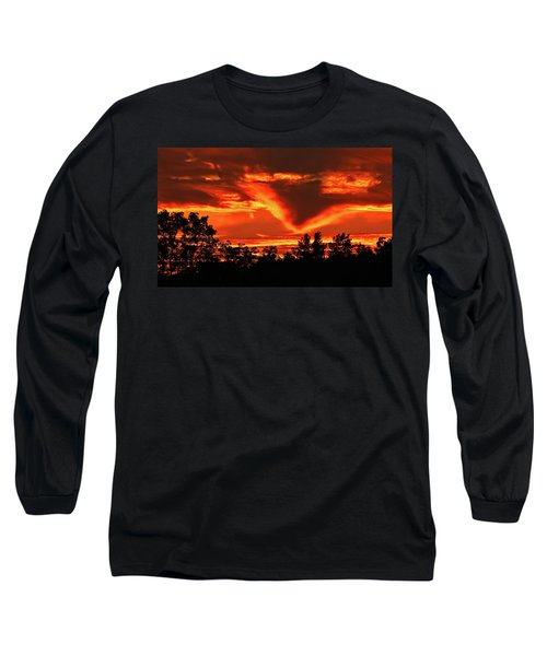 Springport, Michigan Sunset 4289 Long Sleeve T-Shirt