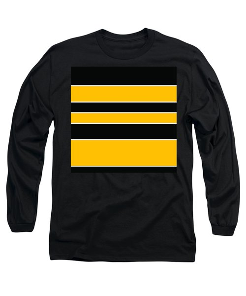 Stacked - Black And Yellow Long Sleeve T-Shirt
