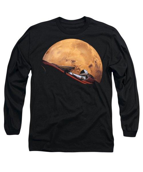 Starman In Orbit Around Mars Long Sleeve T-Shirt