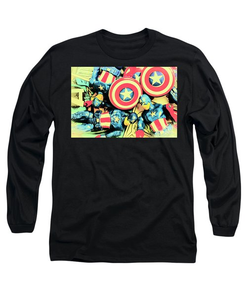 Stars Of Freedom Fighters Long Sleeve T-Shirt
