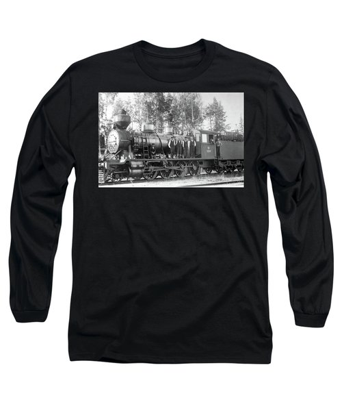 Steam Engine Locomotive 594 Finland Long Sleeve T-Shirt