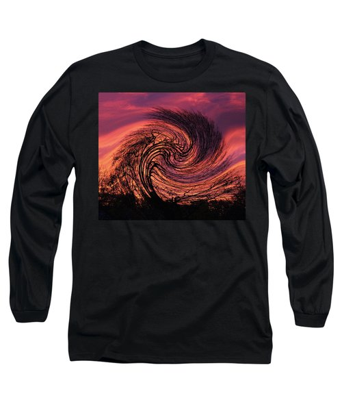 Stormy Abstract Long Sleeve T-Shirt