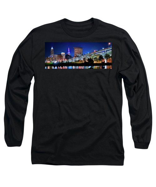 Stretching Out On A Colorful Night Long Sleeve T-Shirt