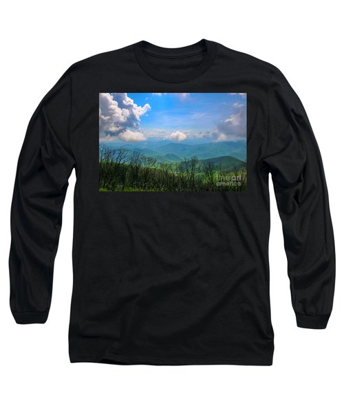 Summer Mountain View Long Sleeve T-Shirt