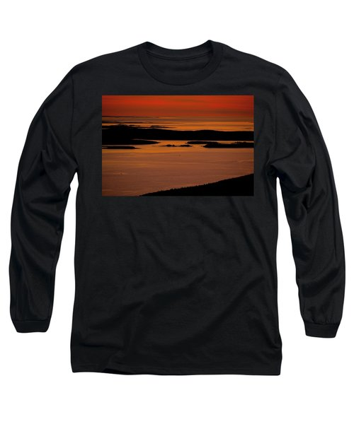 Sunrise Cadillac Mountain Long Sleeve T-Shirt