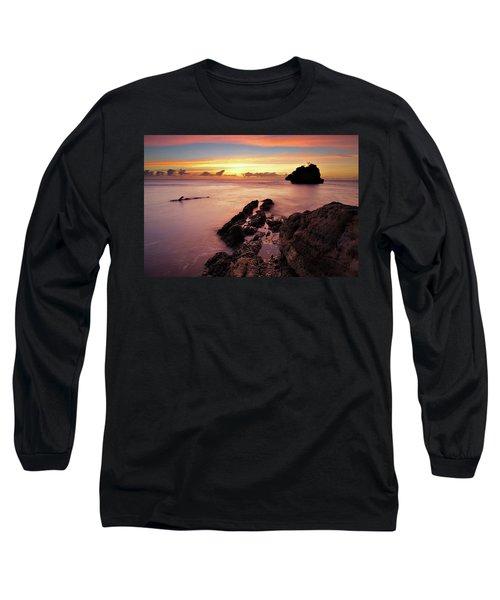 Sunset At Columbus Bay Long Sleeve T-Shirt
