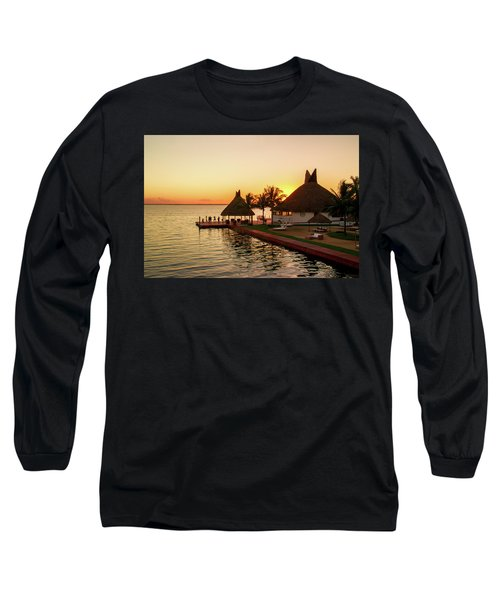 Sunset In Cancun Long Sleeve T-Shirt