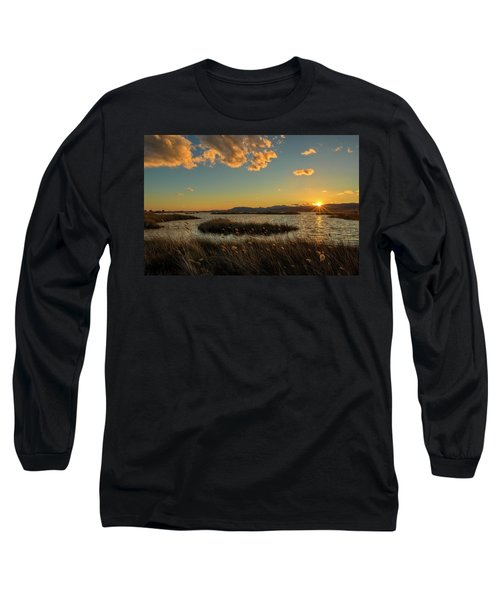 Sunset In The Natural Park Of Prat De Cabanes Long Sleeve T-Shirt