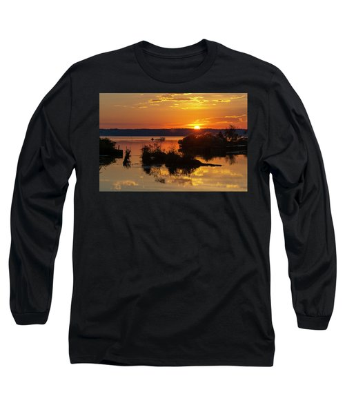Sunset, Mallows Bay Long Sleeve T-Shirt