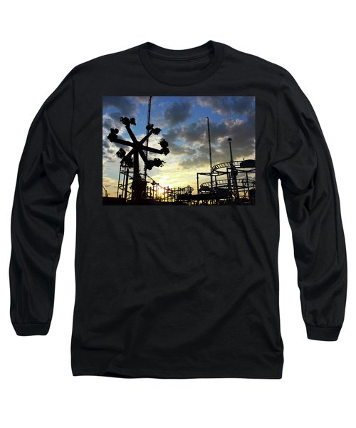 Sunset On Coney Island Long Sleeve T-Shirt