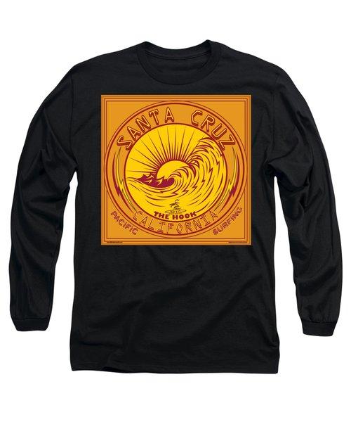 Surfing Santa Cruz California Steamer Lane Long Sleeve T-Shirt