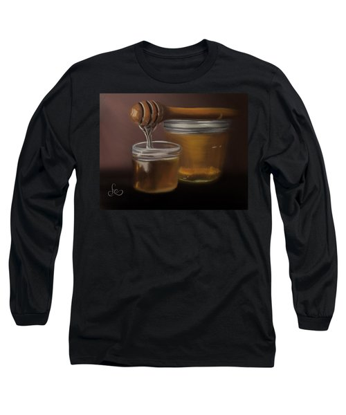 Long Sleeve T-Shirt featuring the painting Sweet Honey by Fe Jones
