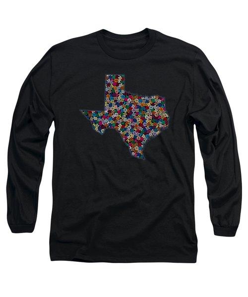 Texas Map - 2 Long Sleeve T-Shirt