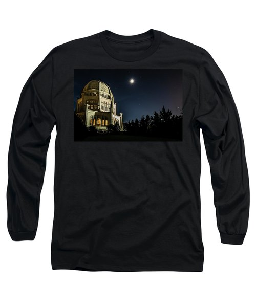 The Bahais Temple On A Starry Night Long Sleeve T-Shirt