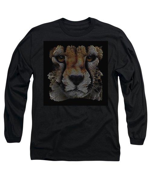 The Face Of A Cheetah Long Sleeve T-Shirt