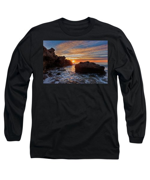 The Sea In Oropesa At Sunrise On The Orange Blossom Coast Long Sleeve T-Shirt