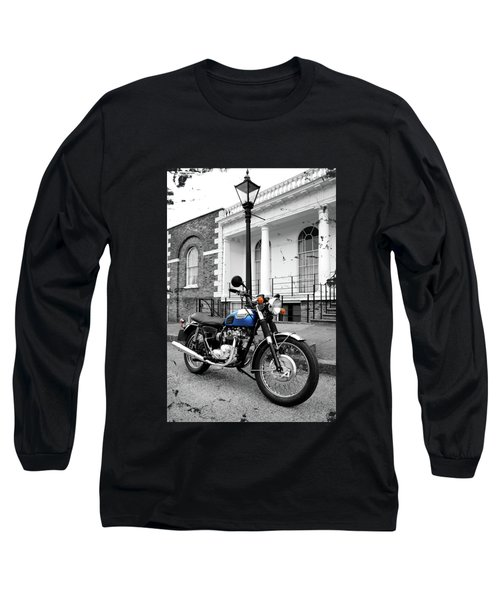 The T100r Daytona Classic Motorcycle Long Sleeve T-Shirt