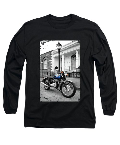 The T100r Daytona Classic Motorcycle Long Sleeve T-Shirt