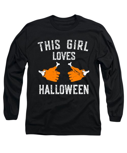 This Girl Loves Halloween Long Sleeve T-Shirt