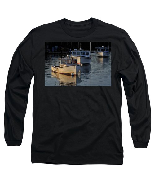 Three Boats In Maine Long Sleeve T-Shirt