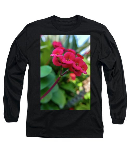 Tiny Red Flowers Long Sleeve T-Shirt