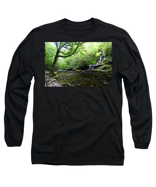 Tom Branch Falls On Deep Creek Long Sleeve T-Shirt
