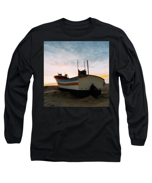 Traditional Wooden Fishing Boat Long Sleeve T-Shirt