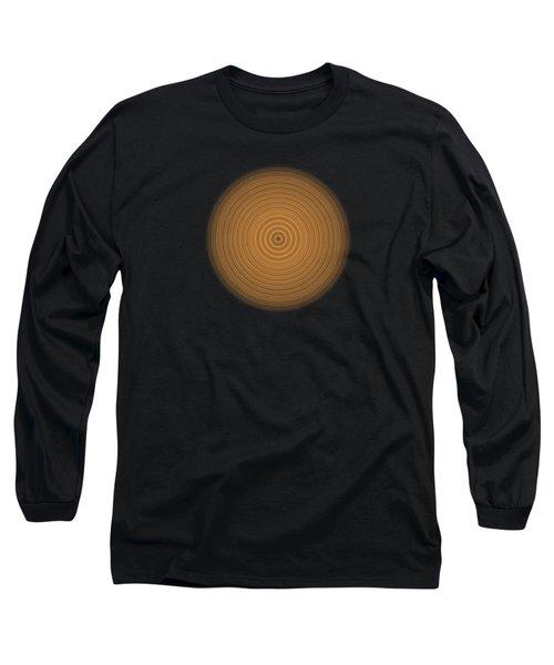 Transparent Intricate Complex Target Spiral Fractal Long Sleeve T-Shirt
