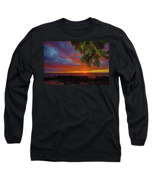 Tree  Sea And Sun Long Sleeve T-Shirt