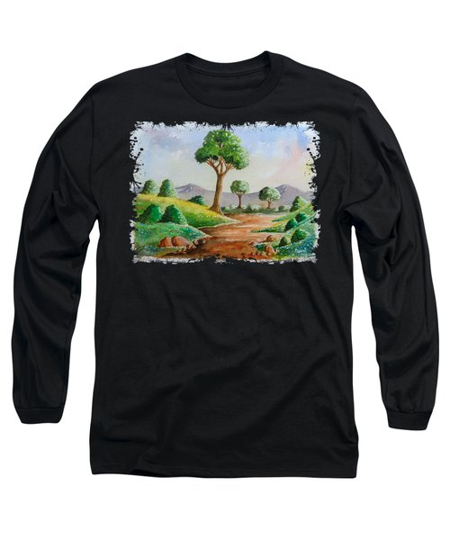 Trees And Flowers Long Sleeve T-Shirt